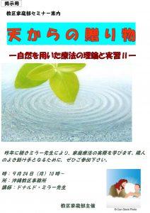 天からの贈り物 〜自然を用いた療法の理論と実践Ⅱ〜 @ 沖縄教区事務所 | 北中城村 | 沖縄県 | 日本